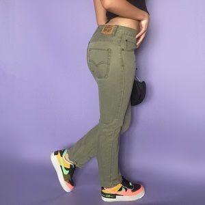 Levi's Olive Green Straight-Leg Jeans
